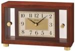 Ceas: Ceas de masa Seiko QXG149B LEMN STICLA