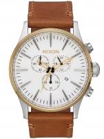 Ceas: Ceas barbatesc Nixon A405-2548 Sentry Gold Cream Tan 42mm 10ATM