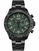 Ceas: Ceas barbatesc Traser H3 109464 P67 Officer Cronograf Green Steel 46mm 10ATM