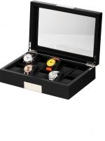 Ceas: Ceas Lemn Negru Rothenschild  RS-2350-10BL Pentru 10 Ceasuri
