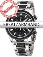 Ceas: Curea de ceas Perigaum Edelstahl P-1312 schwarz-silber