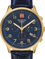 Ceas: Swiss Alpine Military 7084.9515 Chronograph 43mm 10ATM