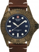 Ceas: Ceas barbatesc Swiss Alpine Military 7051.1585 Diver Vintage 41mm 10ATM