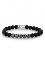 Ceas: Rebel & Rose Armband Matt Shiny Black  RR-80047-S-M Herren