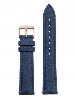 Ceas: Cluse Ersatzband CLS030 [18 mm] blau m. rosé Schließe