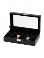 Ceas: Cutie Piele Ecollogica Neagra Rothenschild RS-1098-12CFBL Pentru 12 Ceasuri