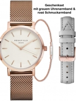 Ceas: Rosefield DFKLM-D6 The Tribeca white ladies 33mm 3ATM