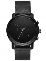 Ceas: Ceas barbatesc MVMT MC01-BL Chrono Black Leather 45mm 10ATM
