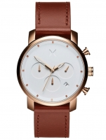Ceas: Ceas barbatesc MVMT MC02-RGNA Chrono Rose Gold Natural Tan  40mm 10ATM