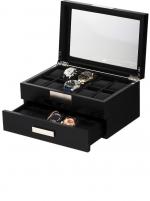 Ceas: Cutie Lemn Rothenschild Negru RS-2350-20BL Pentru 20 Ceasuri