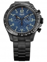 Ceas: Ceas barbatesc Traser H3 109462 P67 Officer Cronograf Blue Steel 46mm 10ATM