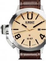 Ceas: Ceas barbatesc U-Boat 8106 Classico U-47 Automat beige 47mm 100M
