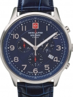 Ceas: Swiss Alpine Military 7084.9535 Chronograph 43mm 10ATM