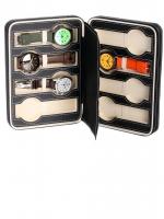 Ceas: Cutie / Borseta piele Ecologica Rothenschild Reiseetui RS-3012-8BL Pentru 8 Ceasuri