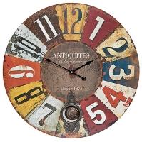 Ceas: Antique HOME 13979 Wanduhr modern Vintage-Wanduhr Antik-Optik XXL-Uhr mit Pendel