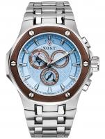Ceas: Ceas barbatesc V.O.S.T. Germany V100.021.C2.SI.M.I Cronograf MECANISM 8171/202, ISA, SWISS-MADE Curea Otel 44MM 20ATM