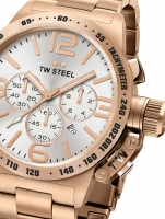 Ceas: Ceas barbatesc TW-Steel CB164 Canteen Bracelet Cronograf 50mm 10ATM