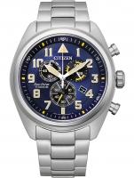 Ceas: Ceas barbatesc Citizen AT2480-81L Eco-Drive cronograf 43mm 10ATM