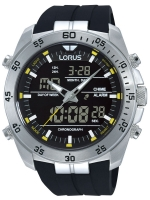 Ceas: Ceas barbatesc Lorus RW619AX9 Analog-Digital Alarm Cronograf 100M 46mm