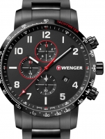 Ceas: Ceas barbatesc Wenger 01.1543.115 Attitude Cronograf  44mm 10ATM
