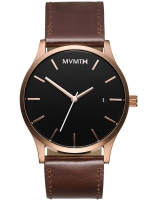 Ceas: Ceas barbatesc MVMT MM01-RGBL Classic Rose Gold Brown 45mm 3ATM