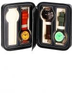 Ceas: Cutie / Borseta Piele Ecologica Rothenschild  RS-1150-4BL Pentru 4 Ceasuri