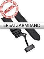 Ceas: Curea de ceas Perigaum Leder P-1001 schwarz ohne Schliesse 24 mm