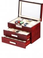 Ceas: Cutie Ceasuri Lemn Cires Rothenschild  RS-2350-30C Pentru 30 Ceasuri