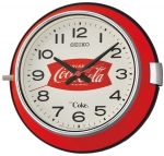 Ceas: Ceas de perete Seiko QX923R Serie: Coca Cola LIMITED EDITION ( METAL -  STICLA ) 23 cm