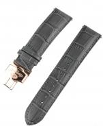 Ceas: Ingersoll Ersatzband [22 mm] grau m. rosé Schließe Ref. 25047