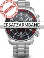Ceas: Curea de ceas Rothenschild Stahl-fur RS-1403-AS-BKRD u. RS-1403-AS-BK