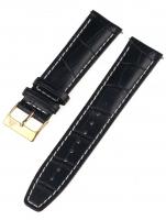 Ceas: Curea de ceas Rothenschild mid-17757 universal 22mm schwarz, goldene Schließe