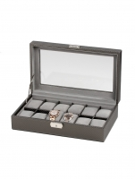 Ceas: Cutie ceasuri Rothenschild RS-1098-12CFPEW pentru 12 ceasuri gri