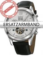Ceas: Curea de ceas Perigaum Leder P-1112 schwarz silberne Schliesse 22 mm