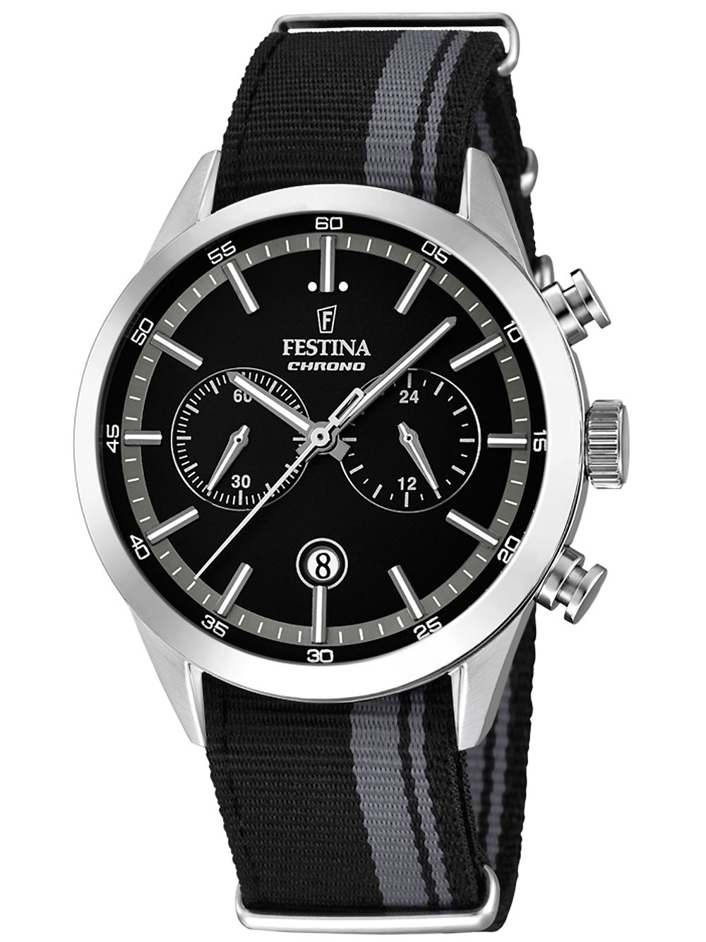 Festina F16827/3 Chronograph Herren 44mm 5ATM