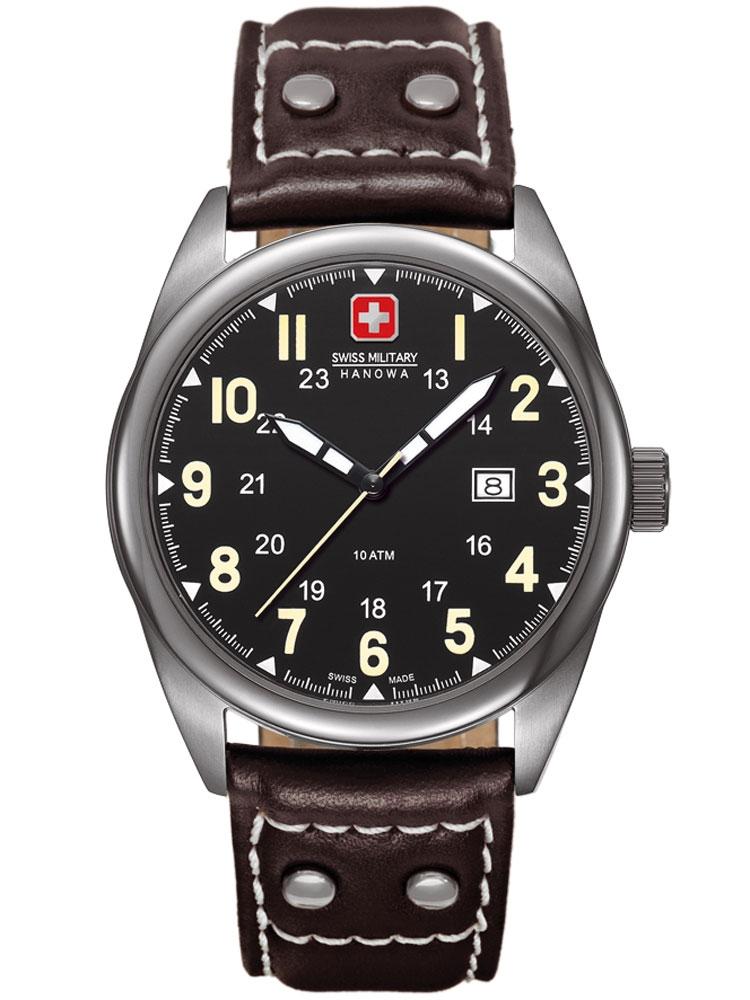 Swiss Military Hanowa Sergeant 06-4181.30.007.05 Barbati negru maro 40 mm