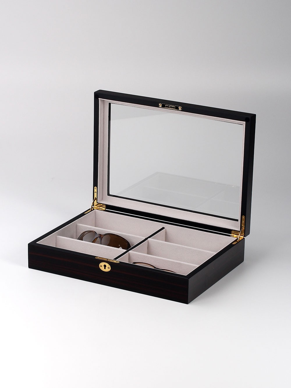 Rothenschild Brillenbox RS-6024-6BL 6 Fächer brown