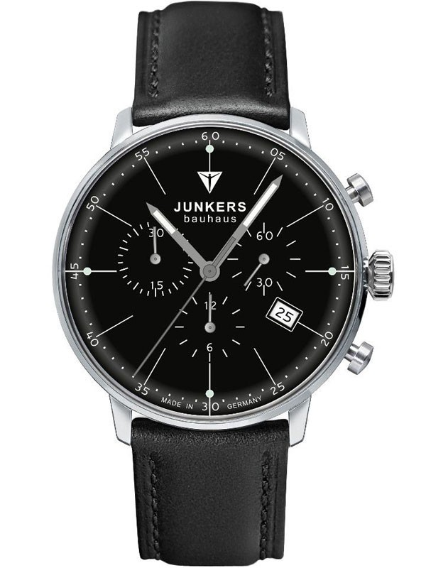 Junkers Bauhaus Chrono 6088-2 Herrenuhr 40 mm
