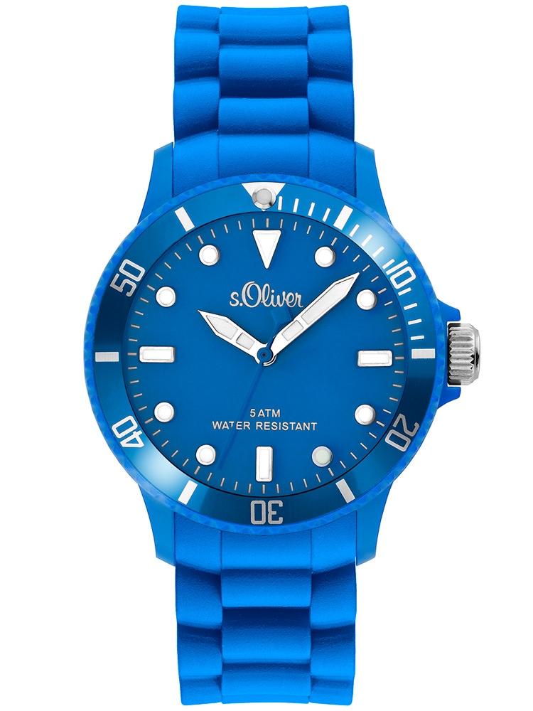 s.Oliver SO-2301-PQ Unisex- albastru 40 mm